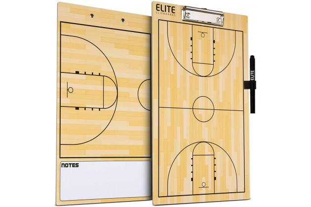 Elite Clipboards Dry Erase Coaches Clipboard - Баскетбольная Тренерская Доска