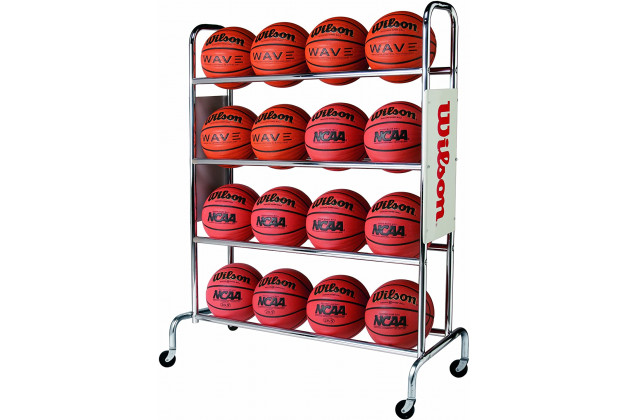 Wilson Deluxe Basketball Ball Rack - Хромированная Стойка на 16 Мячей